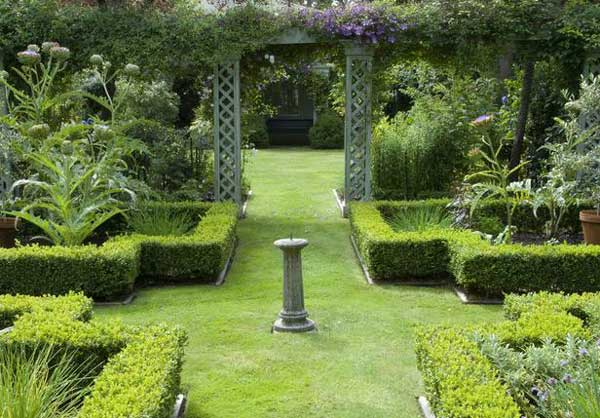 Formal garden design ideas for small outdoors home n for Formal garden design