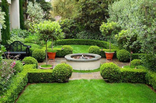 Formal garden design ideas for small outdoors home n for Simple garden designs for small gardens